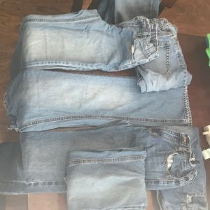 7 Pair Youth Boys Old Navy Sz 12 Rg Boot Cut Jeans